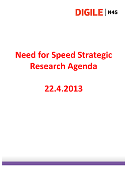 Need for Speed Strategic Research Agenda - 22.4.2013